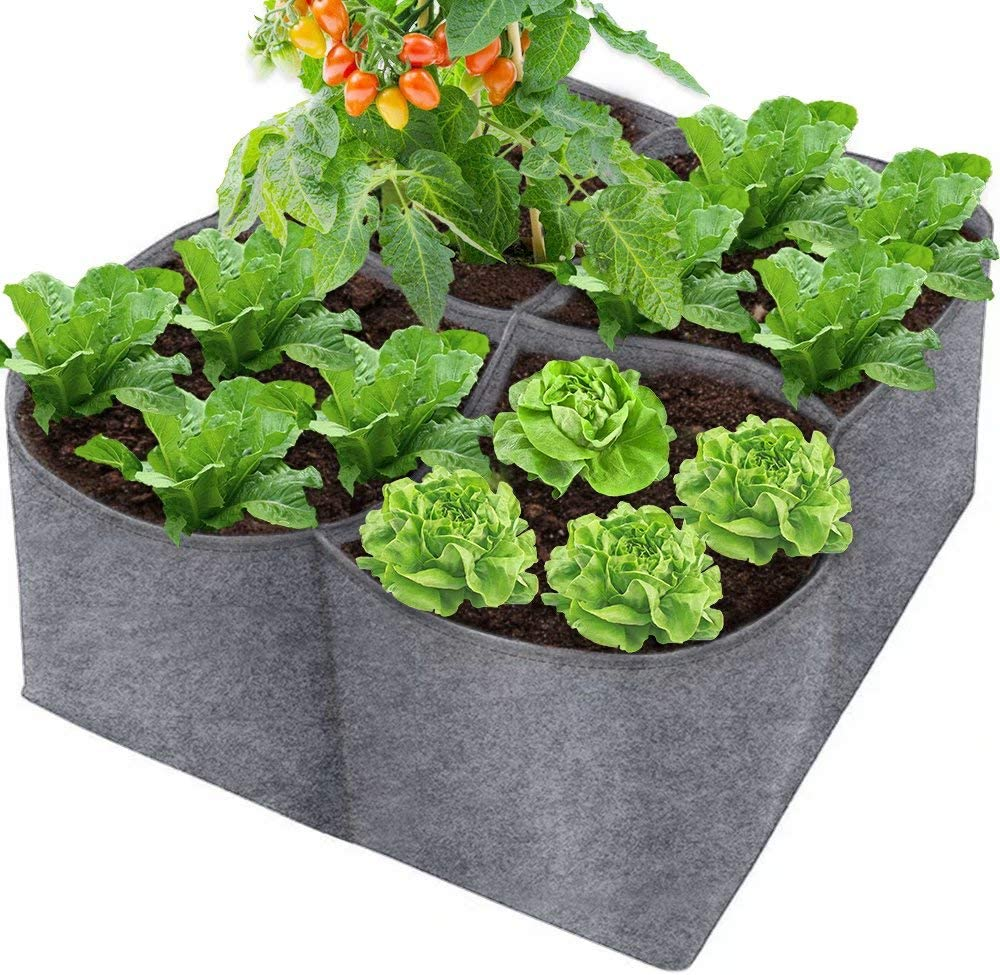 IWNTWY 20 Gallon Grow Bag, Heavy Duty Fabric Square Raised Garden Bed Breathable Planting Container Planter for Plants Herb Flower Vegetable Potato (2 Feet x 2 Feet x 9.8