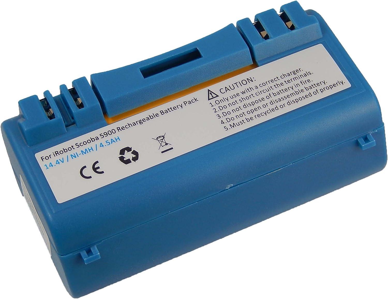 vhbw NiMH batería 4500mAh (14.4V) para robot limpiasuelos robot ...