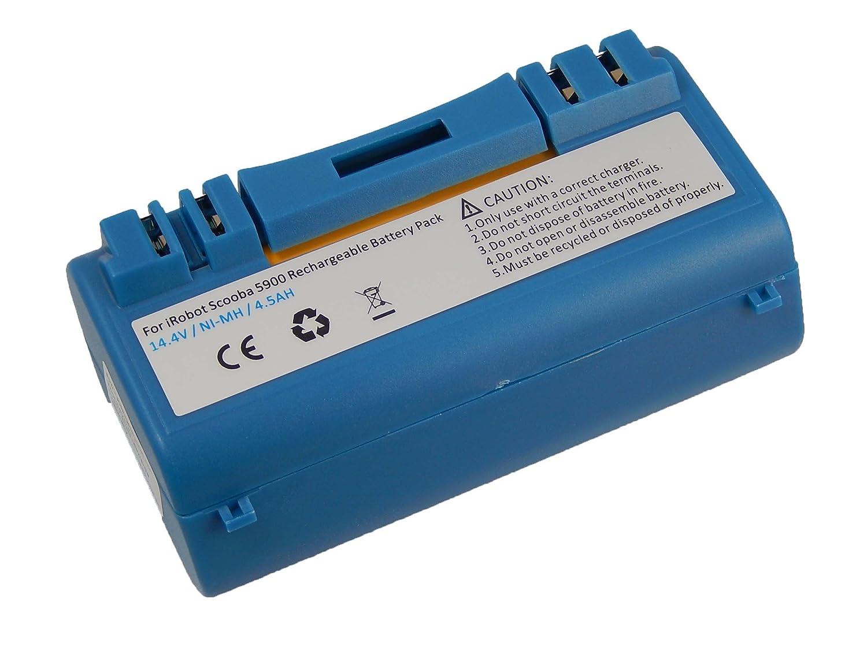 5806 vhbw NiMH batteria 4500mAh per robot aspirapolvere home cleaner iRobot Scooba 330 34001 5832 5800 340 380 390 350 14.4V 385