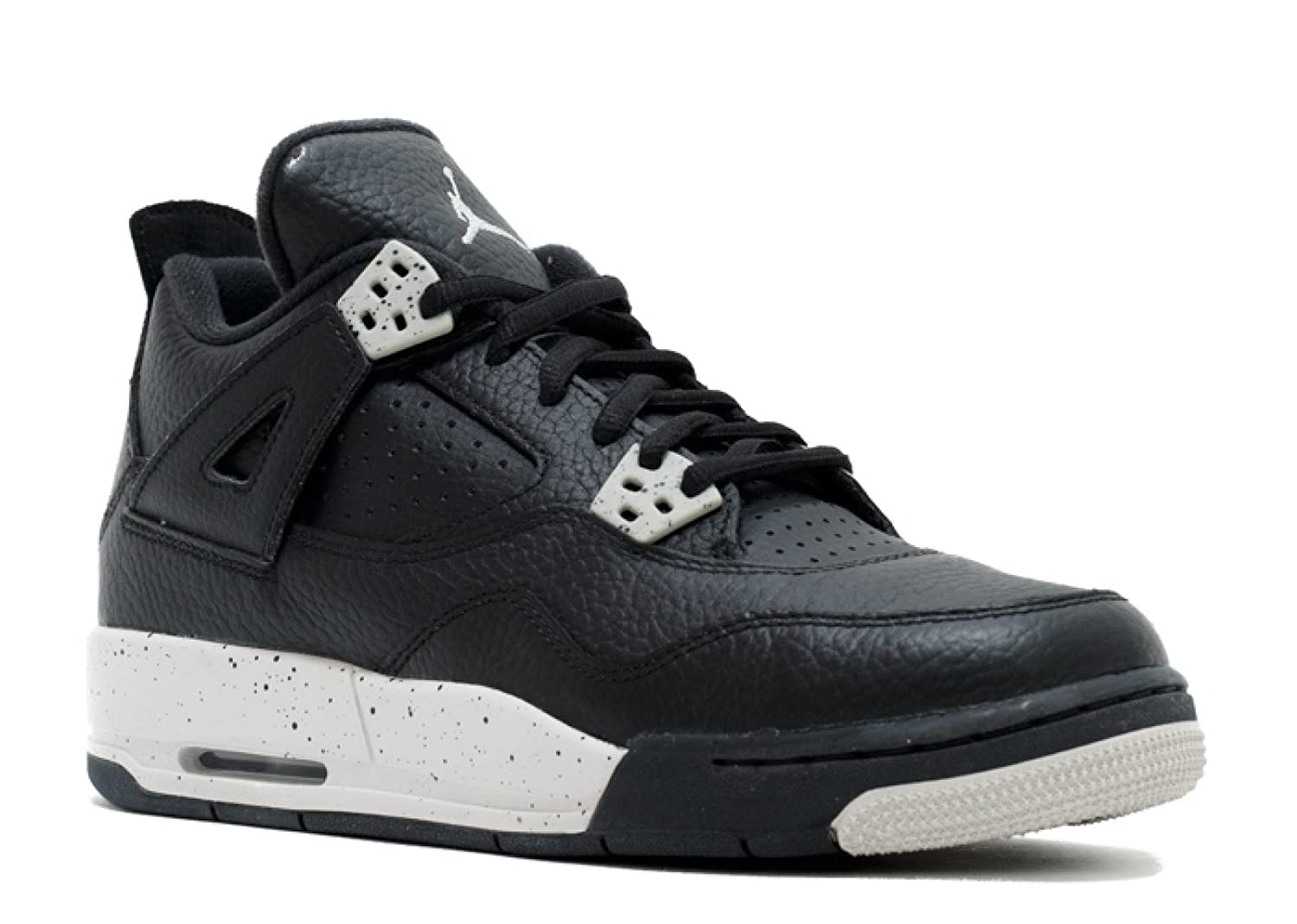 Black, tech grey-black Nike Jordan Kids Air Jordan 4 Retro Bg Basketball shoes