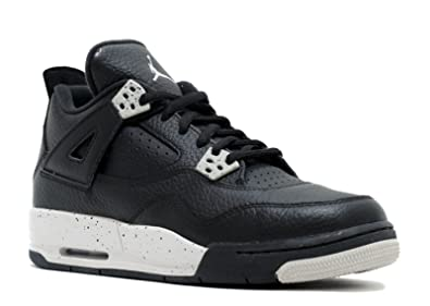 37686b5eed596c Jordan Air 4 Retro Oreo BG Big Kids Shoes Black Tech Grey-Black 408452