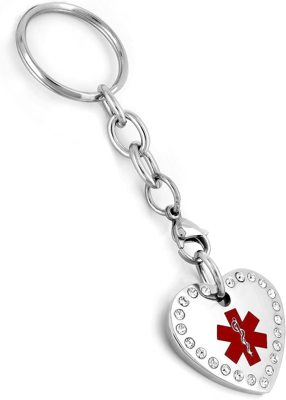 3.75 Inch Heart Key Chain