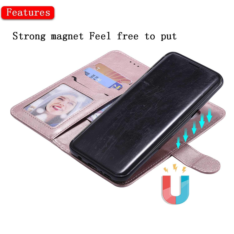 Bear Village/® H/ülle f/ür Samsung Galaxy S8 Plus Blau TPU Innere Ledertasche 360 Grad Voll Schutz Flip Leder Handyh/ülle Tasche mit Kartensfach