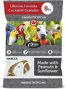 Hagen Tropican Bird Food, HARI Parrot Food with Peanuts & Sunflower Seeds, Lifetime Formula
