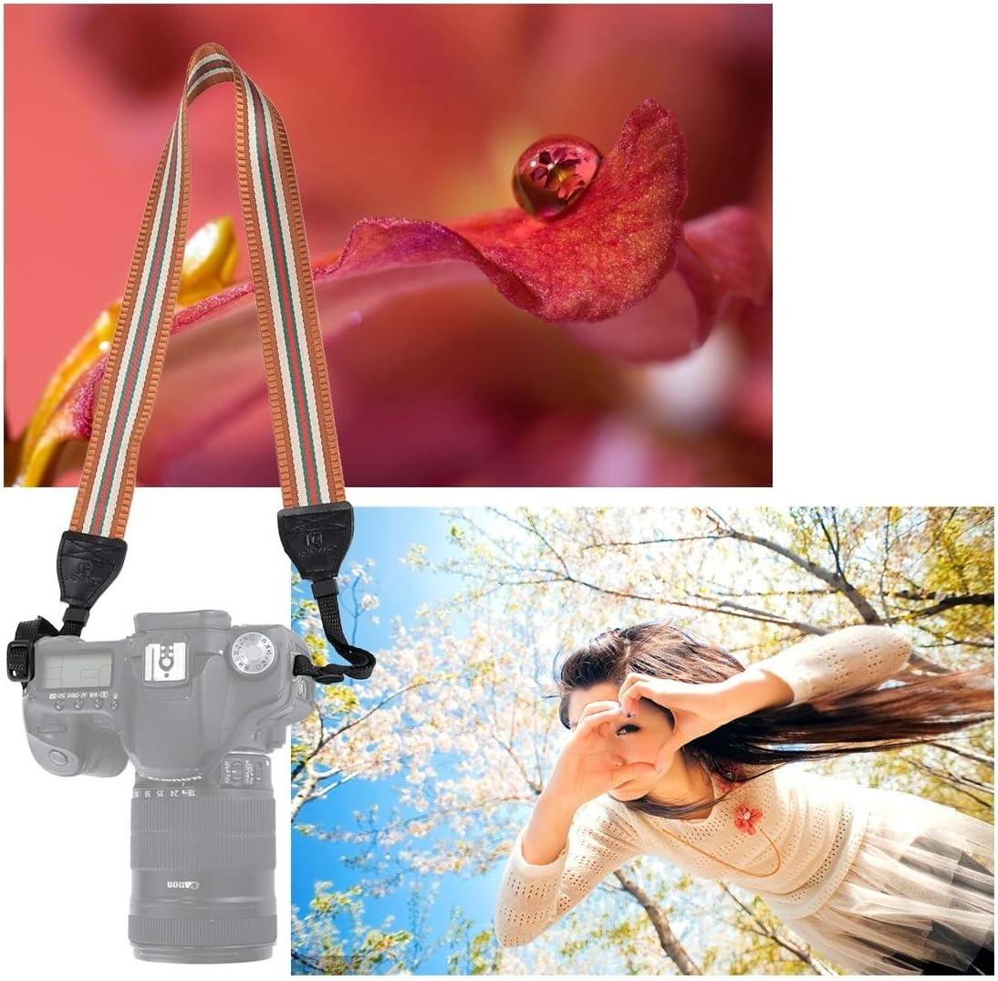 Color : Dark Red JINGZ Stripe Style Series Shoulder Neck Strap Camera Strap for SLR//DSLR Cameras Durable