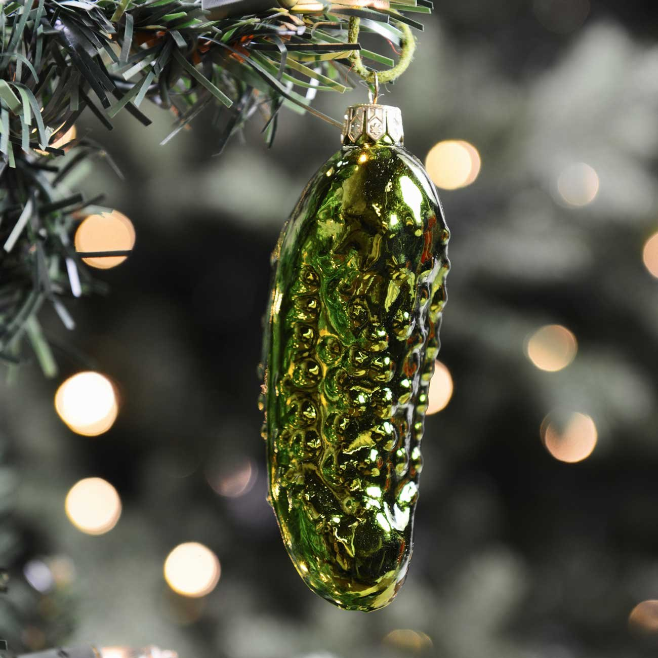 Amazon: Noble Gems Old World Pickle Glass Christmas Tree Ornament  Decoration Gc0034 New: Home & Kitchen
