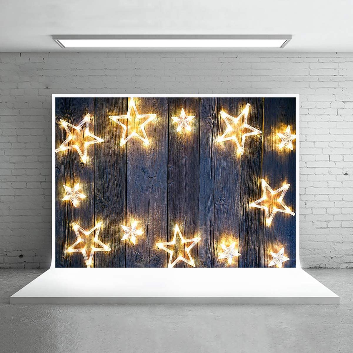 TCReal Lighting Background Banner Photography Studio Night Background Birthday Family Party Holiday Celebration Romantic Wedding Photography Backdrop Home Decoration 10x8ft,chy025