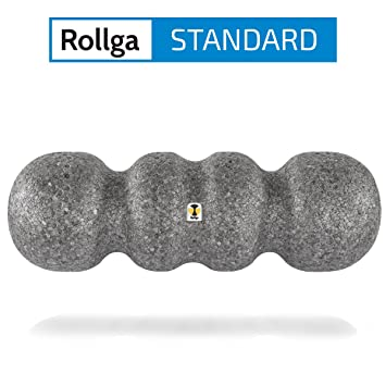 Rollga Faszienrolle, STANDARD, grau – 45 cm, patentierte 4-Zonen ...