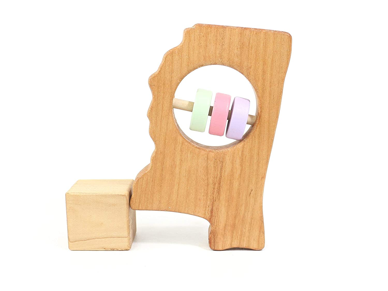 Mississippi State Wooden Baby Rattle ™
