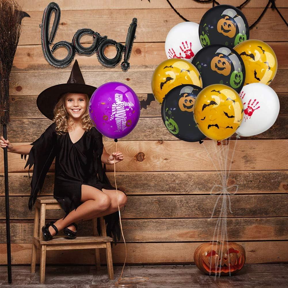 Miseagan Halloween 13PCS Party Balloons Spooky Decorations Latex Foil Balloons Halloween Fun Party Balloons