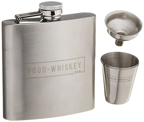 Amazon.com: Petaca: por buen Whisky con acero inoxidable ...