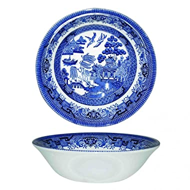 Churchill Blue Willow Fine China Earthenware Oatmeal Bowl 6  Set Of 6, Made In England