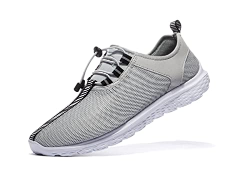 VSDANLIN Men s Sports Running Shoes Lightweight Athletic Breathable Mesh  Anti-Slip Leisure Walking Sneakers