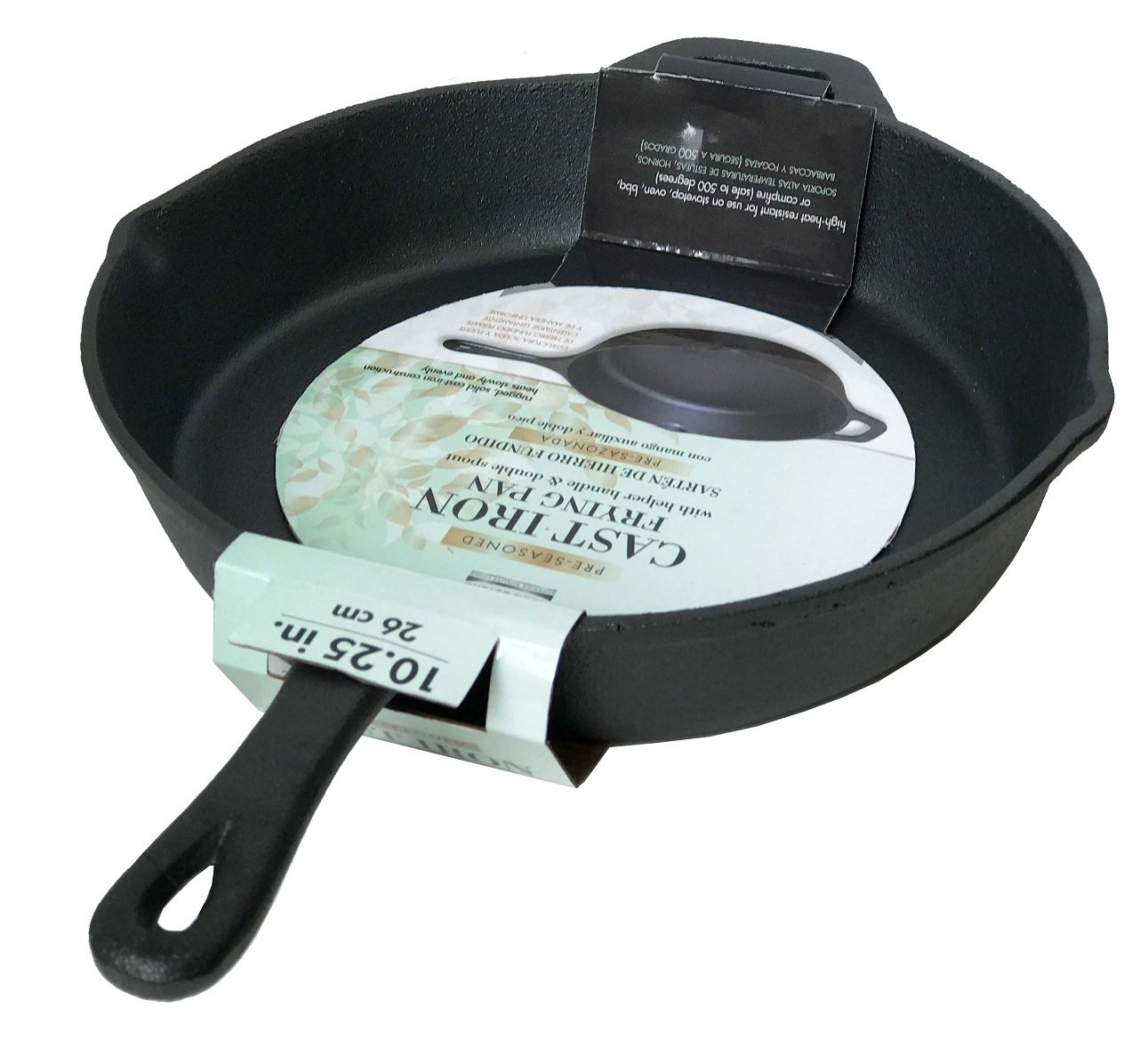 Amazon.com: Wees Beyond 5303-RG Round Pre-Seasoned Cast Iron Grill 10