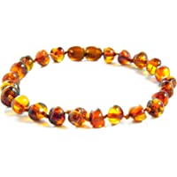 Amber Crown Baltic Amber Anklet - Bracelet/Authentic Certified Baltic Amber Beads/13-19 cm