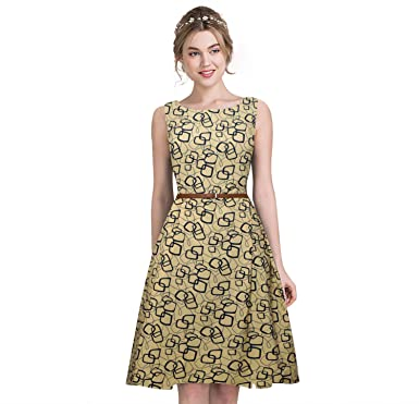 b6d6cf68d4c5 Belomoda Designer Chicku Knee Lengh Heavy American Midi Dress For Women