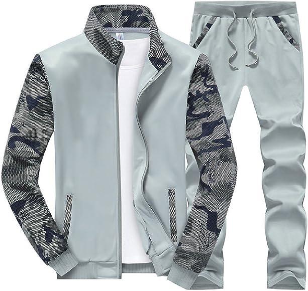 Andopa Camuflaje de ocio más tamaño chaqueta de chándal conjunto ...