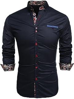 Coofandy Camisa de Vestir Hombre Manga Larga de Trabajo Multcolor de ... c5c79e94e5b