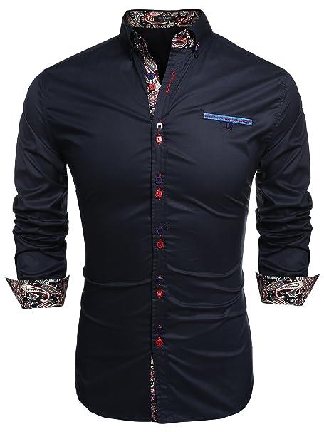 620ff4de38856 Coofandy Camisa Casual Manga Larga para Hombre de Moda  Amazon.es  Ropa y  accesorios