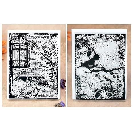 Kwan Crafts 2 hojas de diferentes estilos de fondo de jaula de ...