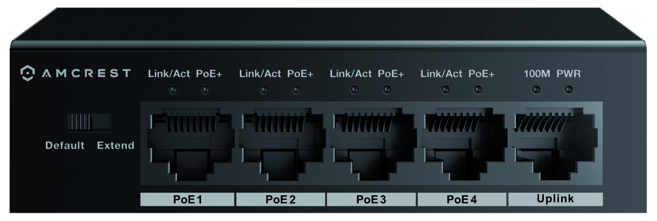 Amcrest 5-Port POE+ Switch with Metal Housing, 4-Ports POE+ Power Over Ethernet Plus 802.3at 58w (AMPS5E4P-AT-58) by Amcrest (Image #2)