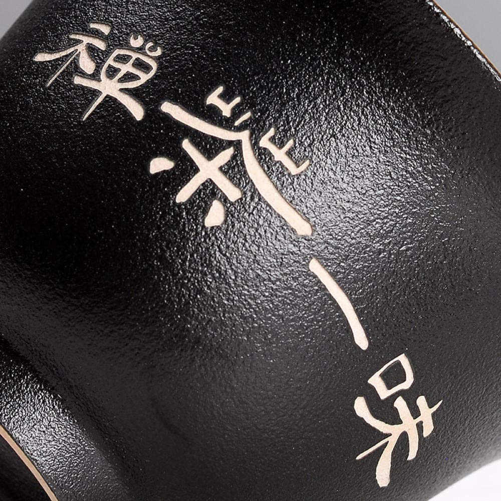 Ciotola Grande con Coperchio Tre Ciotole in Ceramica Nera Gaiwan NINnn Gaiwan Tazza Set da t/è Kung Fu
