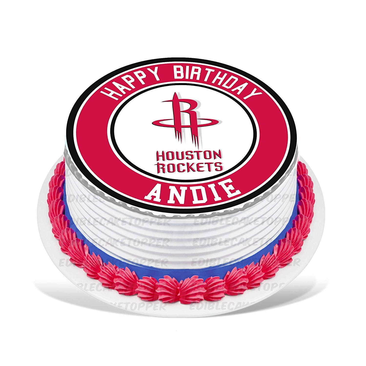 Rockets Edible Cake Topper Personalized Birthday 10 Round Circle Decoration Party Sugar Frosting Transfer Fondant Image Best Quality