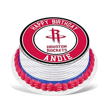 Rockets Edible Cake Topper Personalized Birthday 10quot Round Circle Decoration Party Sugar Frosting Transfer