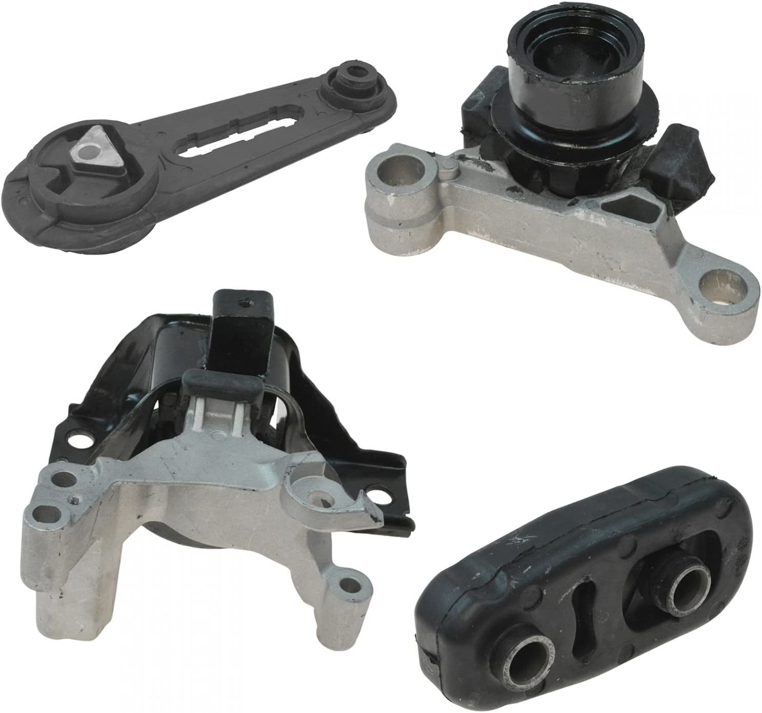 Ashimori Compatible With 2007-2012 Nissan Sentra 2.0L Right Side Transmission Engine Motor Mount Set A4348