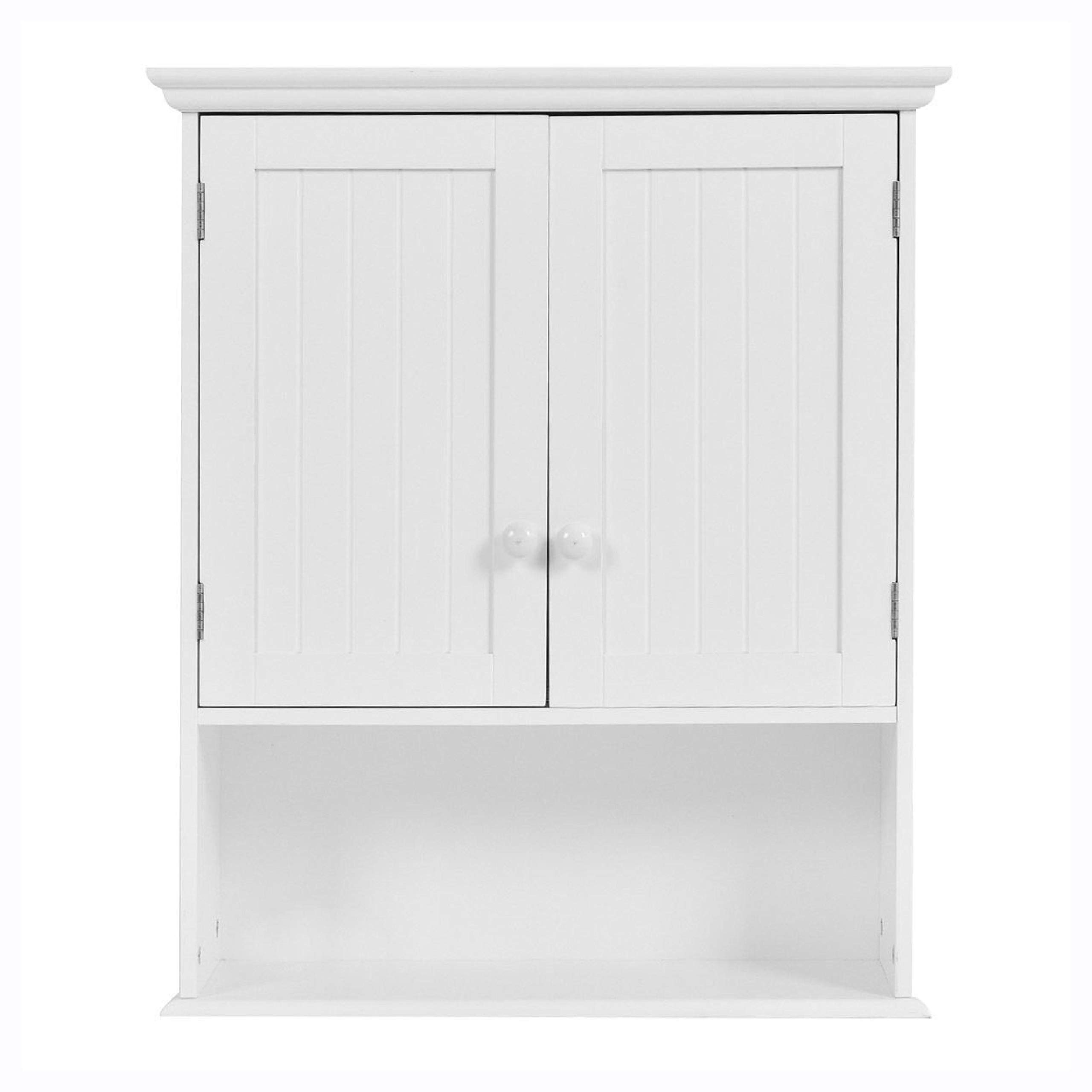 Bathroom Cabinet, White Wall Mount Bathroom Cabinet with Storage Shelf by HEATAPPLY