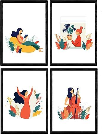 Pack de Posters con Ilustraciones de Mujeres de Cada Dia. Mujer ...