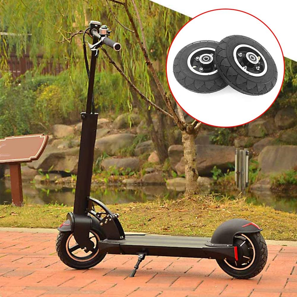 housesweet Electric Scooter Wheel Tyre Tire Inner Tube Set Pneumatic 8 Inch w//Wheel Hub Bearing Tyre Replacement