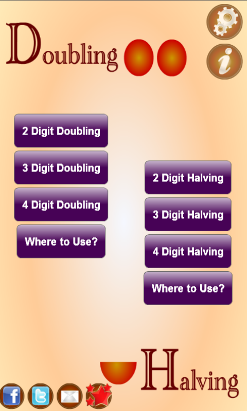 Amazon.com: Doubling And Halving: Appstore for Android