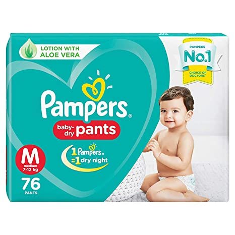 Buy Pampers New Diaper Pants, Medium, 76 Count Online at Low