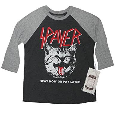 8737f80fa1b8 Spayer Cat Shirt - Vintage Rock Slayer Long Sleeve Shirt Parody Size Small