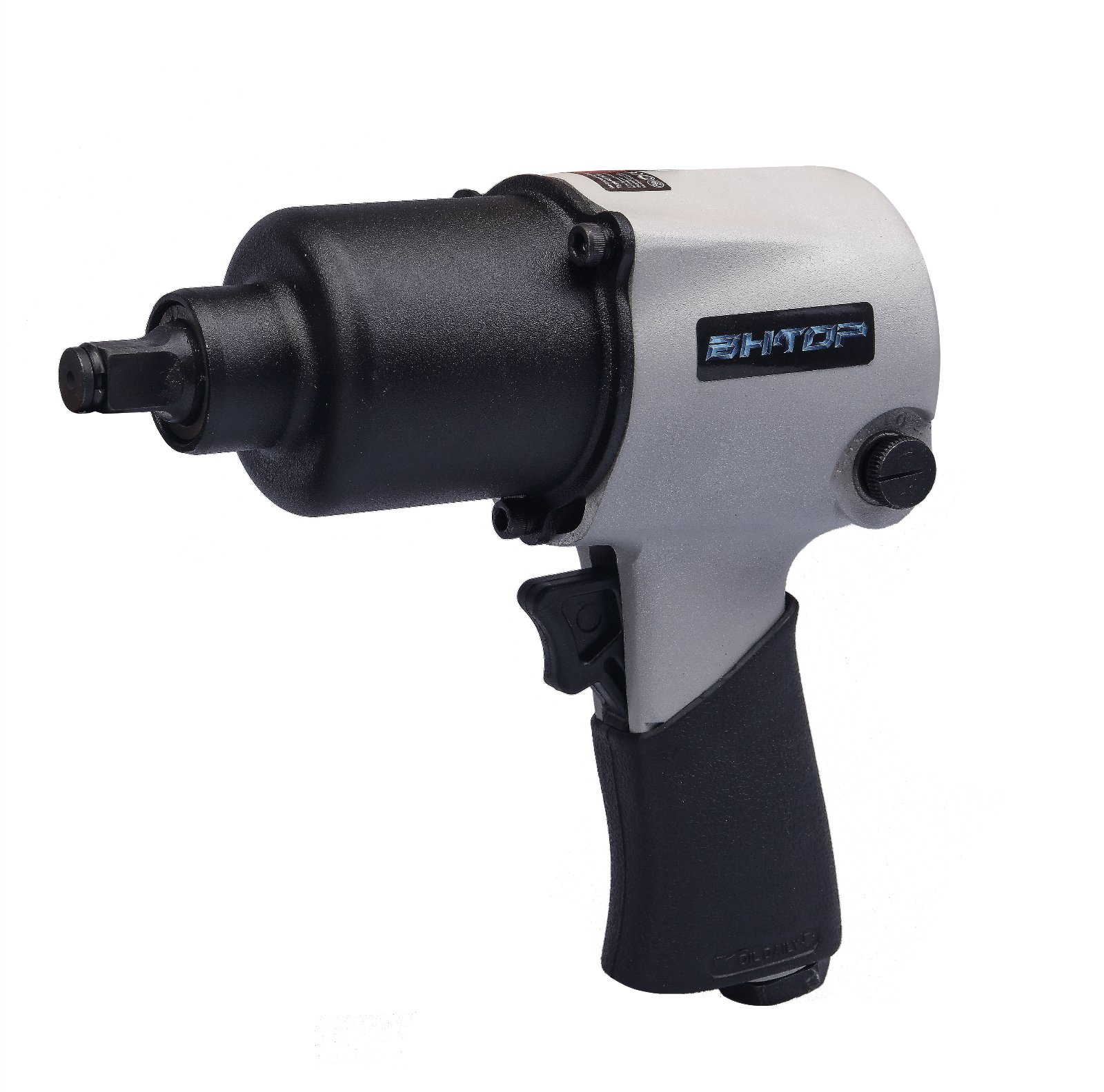 1/2''-Air Impact Wrench BHTOP Reinforced Body,Air-powered,Comfort Grip,420 ft-lbs, Twin Hammer,No Electricity