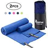 Relefree Microfiber Towels, 2 Sizes Sports, Travel, Beach Towel, XL(60x30'') & XS(24X15''), Quick Dry, Ultra Absorbent, Suitable for Fitness, Camping, Swimming, Backpacking