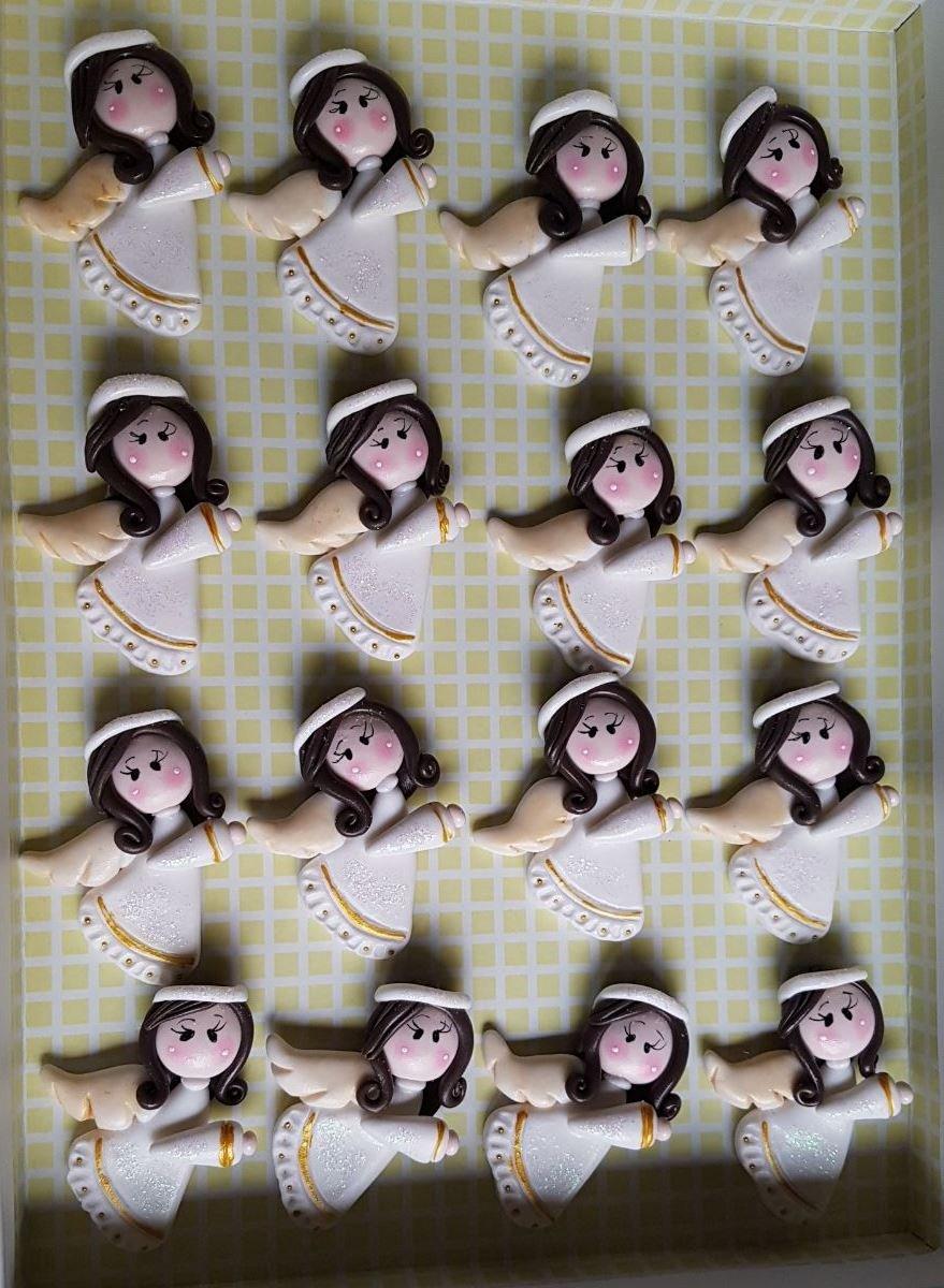 12 ANGELES Porcelana Fria Bautizo, Nacimiento, Baby Shower, comunion Niño, Niña handmade flavors: Amazon.es: Handmade
