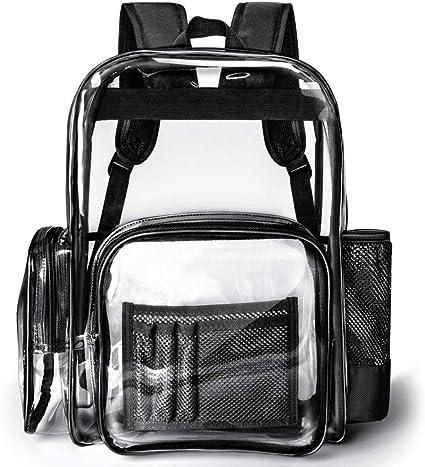 Amazon.com: Packasso Mochila transparente, resistente ...
