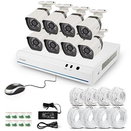 Zmodo ZM-SS78D9D4-S 4CH HD 720p G2 Spoe Sistema de vigilancia con 4