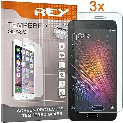 REY 3X Protector de Pantalla para XIAOMI MI5, Cristal Vidrio Templado Premium: Amazon.es: Electrónica