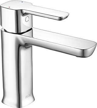Delta Faucet Modern Single Handle Bathroom Faucet With Drain