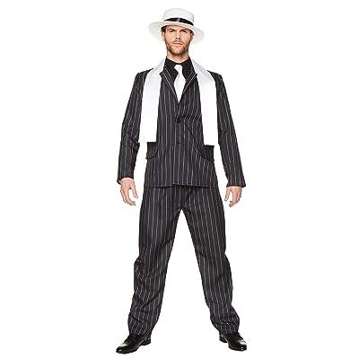 Karnival Costumes Traje de Jefe de la Mafia, Disfraz para Adultos Tipo Gangster de los años 20Ž: Juguetes y juegos