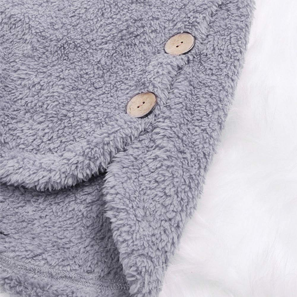 Amazon.com: HYIRI Bottoming Fluffy Tail Tops,Fashion Women Button Coat Hooded Pullover Loose Sweater: Clothing