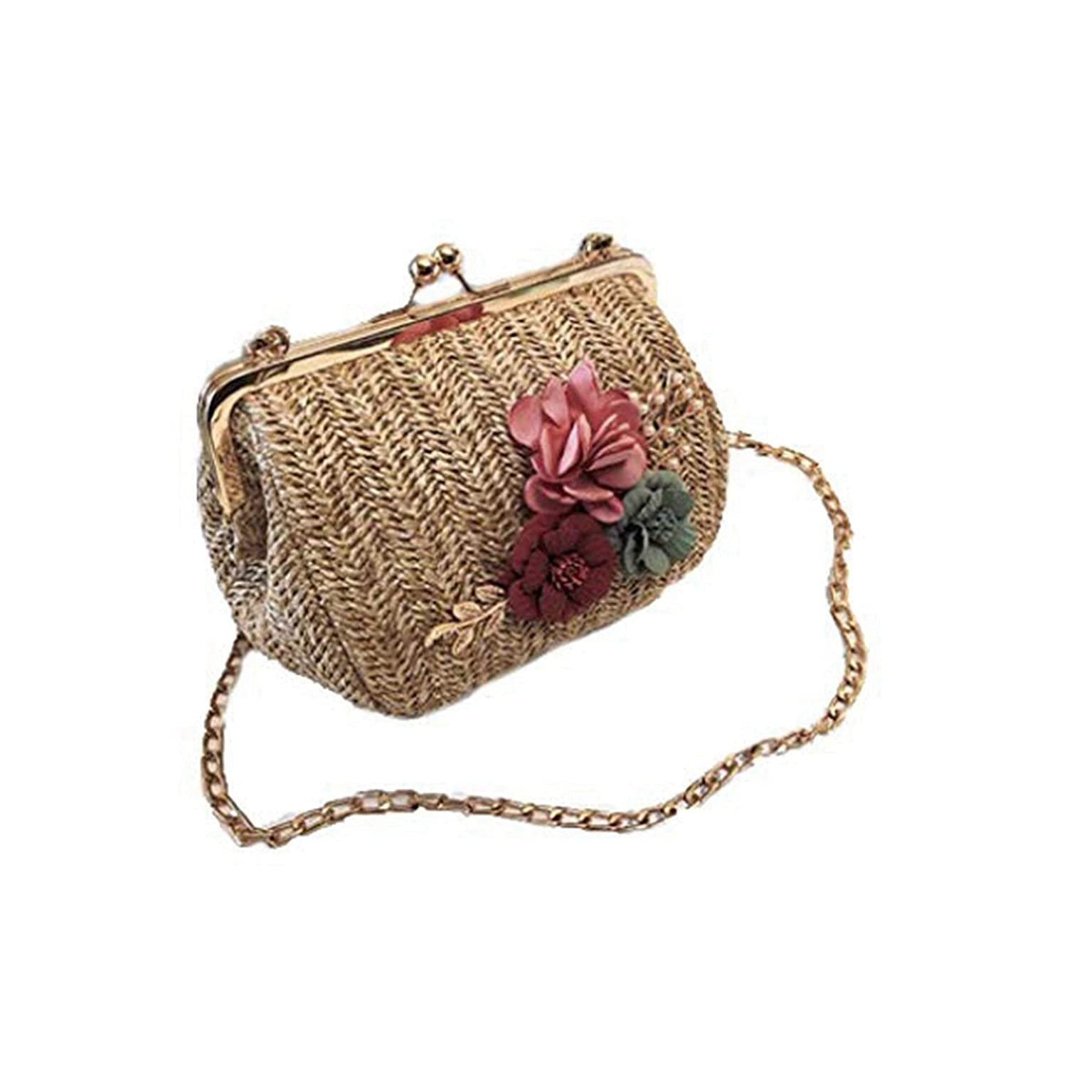 Summer Flower Straw Bag...