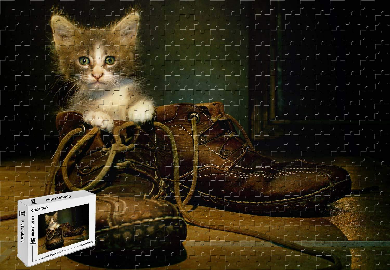 期間限定特別価格 PigBangbang -、34.4 X 22.6インチ、木製 - 猫のブーツ - - PigBangbang、34.4 1500ピースジグソーパズル B07H24VJTL, 小さな庭園:a5088682 --- a0267596.xsph.ru