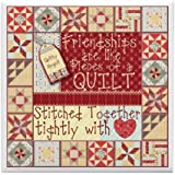 CafePress - Friendships Are Like Quilts - Tile Coaster, Drink Coaster, Small Trivet