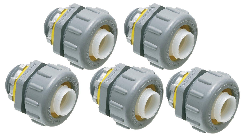 Arlington NMLT50-5 1/2-Inch Non-Metallic Straight Liquid-Tight Connector, 5-Pack