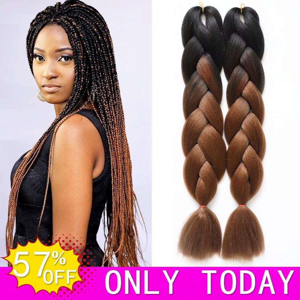Amazon Hvaxing 24 Black To Brown Ombre Jumbo Braiding Hair