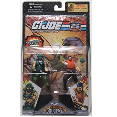 "G.I. JOE Hasbro 25th Anniversary 3 3/4"" Wave 4 Action Figures Comic Book 2-Pa...: Toys & Games"